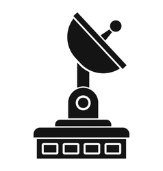 Satellite dish icon simple style vector