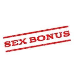 Sex Bonus Watermark Stamp vector image