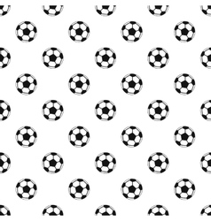 Soccer ball pattern simple style vector image