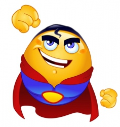 super hero emoticon vector image