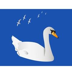 Swan and albatrosses vector image vector image