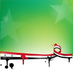 Syria background with flag vector
