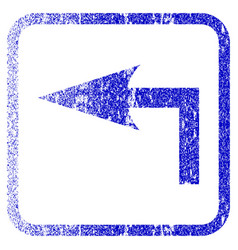 Turn left framed textured icon vector