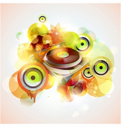Turntable and loudspeakers vector image vector image