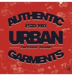 Urban vintage stamp vector image