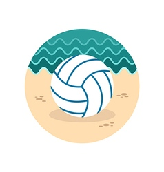Volleyball icon summer vacation vector
