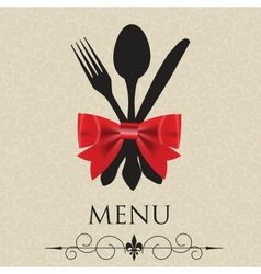 The concept of restaurant menu vector