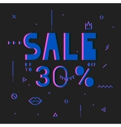 Black friday sale modern banner in the psychedelic vector