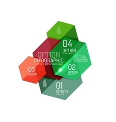 Infographic modern templates - geometric shapes vector