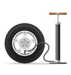 air pump 02 vector image