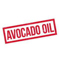 Avocado oil rubber stamp vector