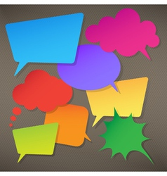 Colorful speech bubbles round and square vector