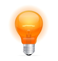 Red light bulb isolated on white vector