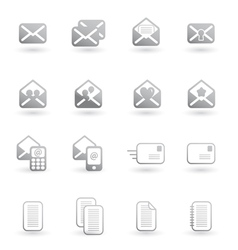 Set of mail icons vector