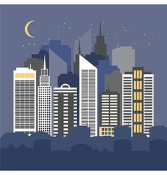 A city at night vector