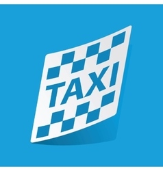 Taxi sticker vector