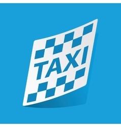 Taxi sticker vector image