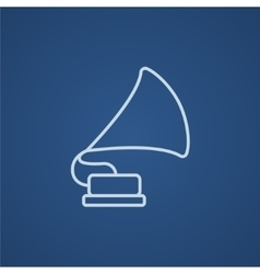 Gramophone line icon vector