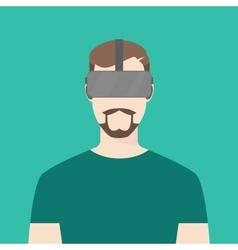 Men wear using oculus graphic vector