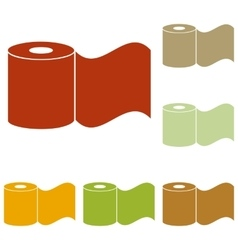Toilet paper sign vector