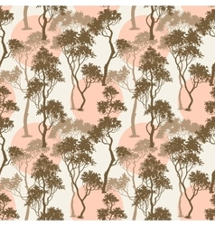 Trees pattern forest background vector image