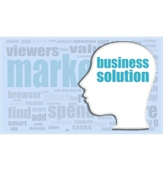 Business solution business solution head vector