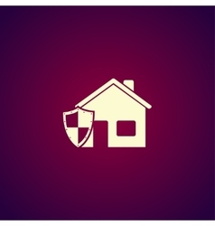 House shield icon vector