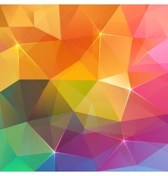 Abstract triangles ice colorful background vector image vector image
