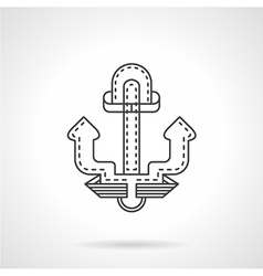 Anchor thin line icon vector image