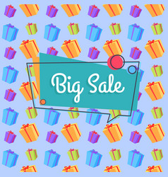 Big sale banner seamless pattern shopping bags vector