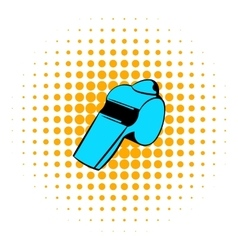 Blue whistle icon comics style vector
