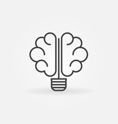 Brain bulb icon vector
