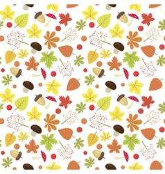 Bright autumn seamless pattern natural colors vector