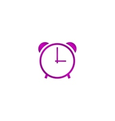 clock icon Flat design style vector image
