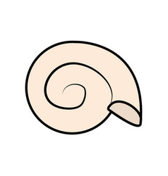conch or shell icon image vector image