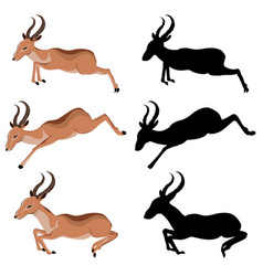 cute cartoon antelope vector image