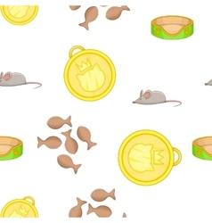 Furry friend pattern cartoon style vector