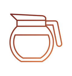 glass coffee maker beverage kitchen equipment vector image
