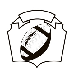 Gray scale emblem with football ball vector