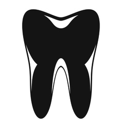 Human tooth icon simple style vector image vector image