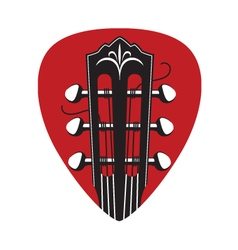 icon with guitar neck and pick vector image