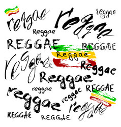 isolated lettering poster in reggae style vector image