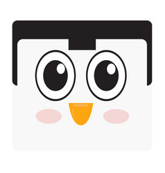 isolated penguin face vector image