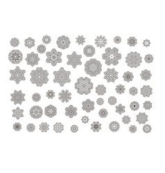 Mandalas ornament round set vector