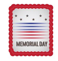 Memorial day stamp vector