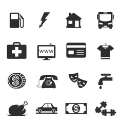 Monthly costs icons vector image