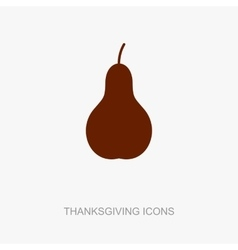 Pear icon Harvest Thanksgiving vector image