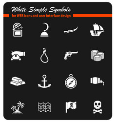 Pirates icon set vector