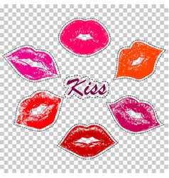 prints of female lips vector image vector image