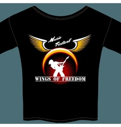 Rock festival t-shirt vector image vector image